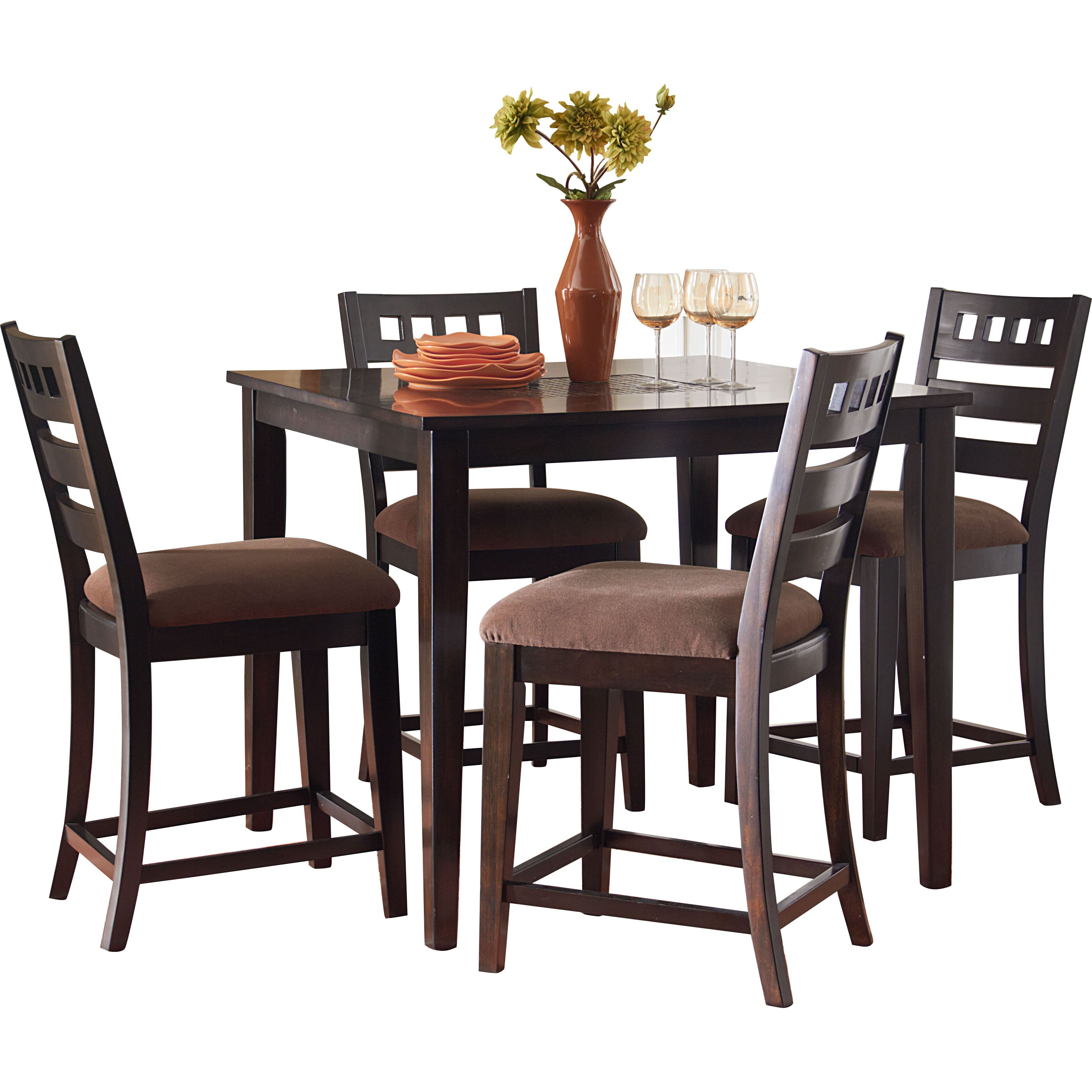 Standard Furniture Sparkle 5 Piece Counter Height Dining Set & Reviews ...