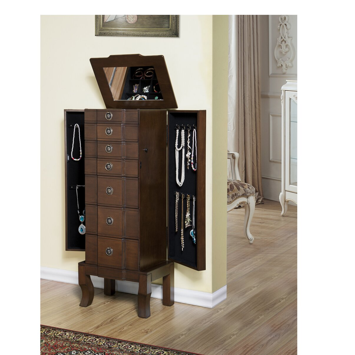 Drawer jewelry armoire wayfair