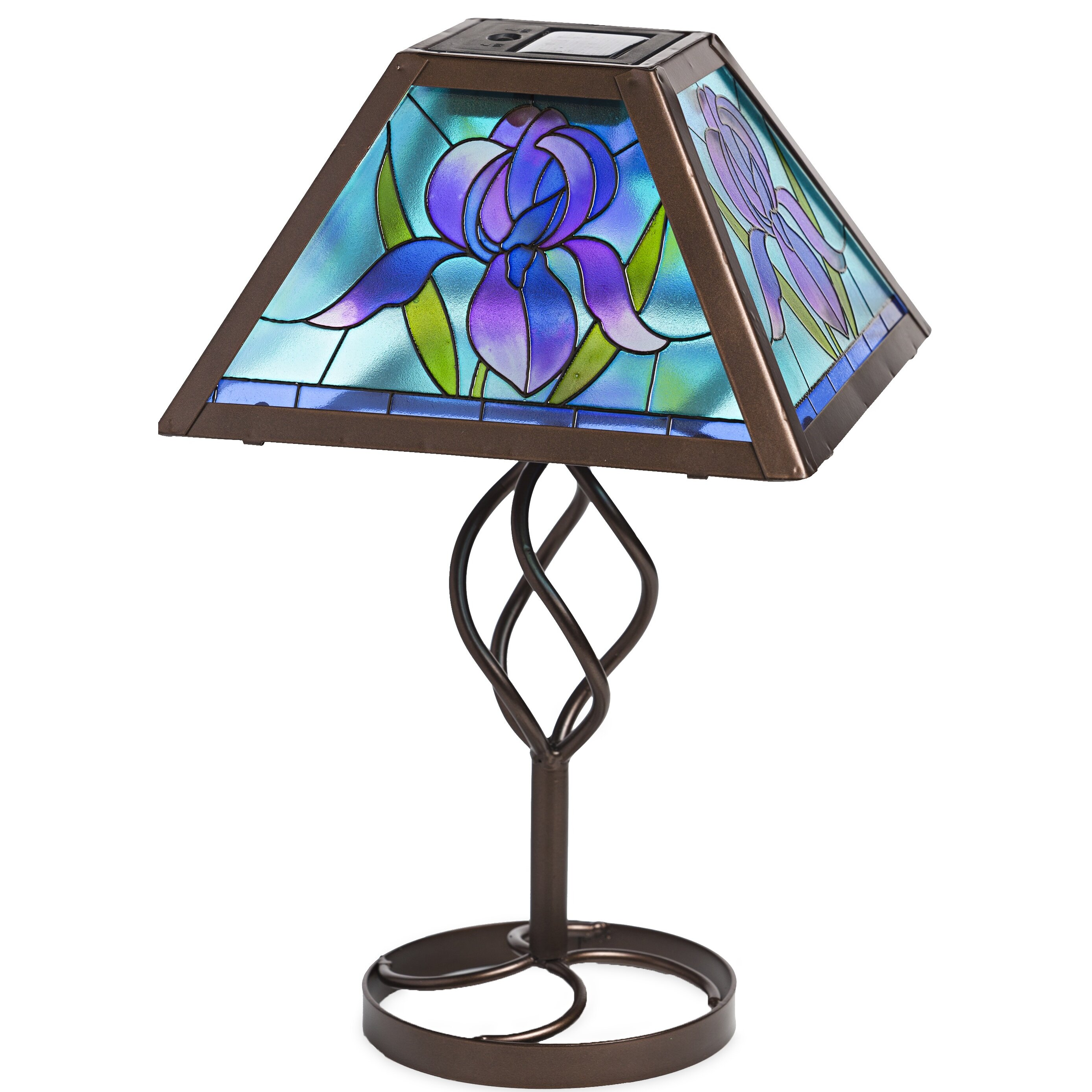 Tiffany Style Flower Solar Outdoor 12 75 Quot H Table Lamp