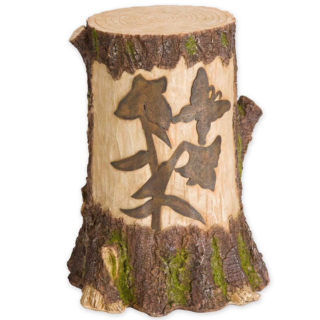 Stump with solar lighted garden statue wayfair for How to make illuminated tree stumps