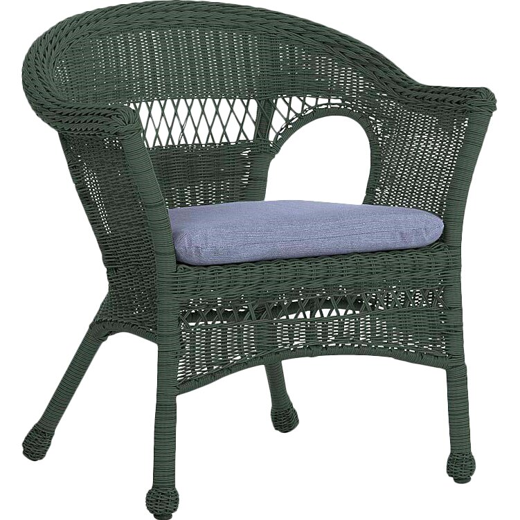 Plow hearth easy care resin wicker chair reviews wayfair for Resin wicker furniture