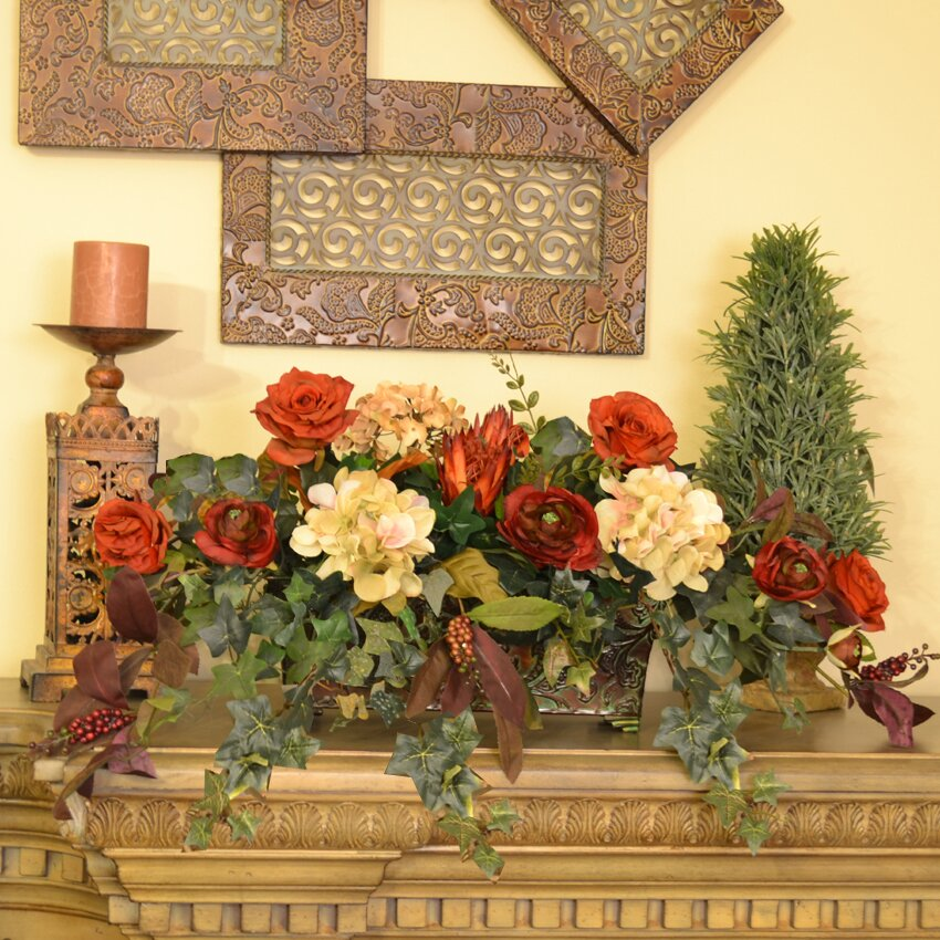 Floral Home Decor Silk Floral And Ivy Ledge Plant