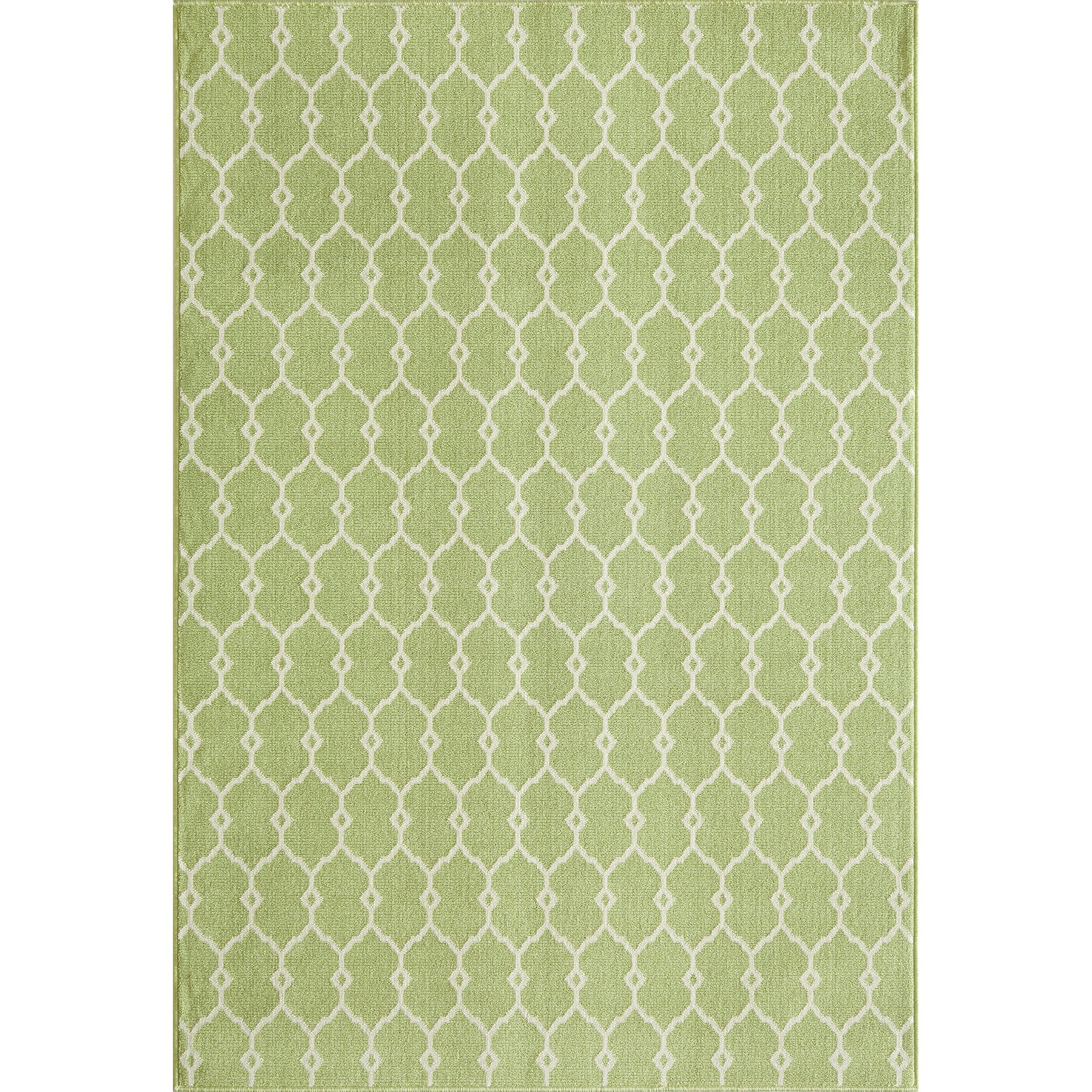 Momeni baja green indoor outdoor area rug reviews wayfair for Indoor outdoor carpet green