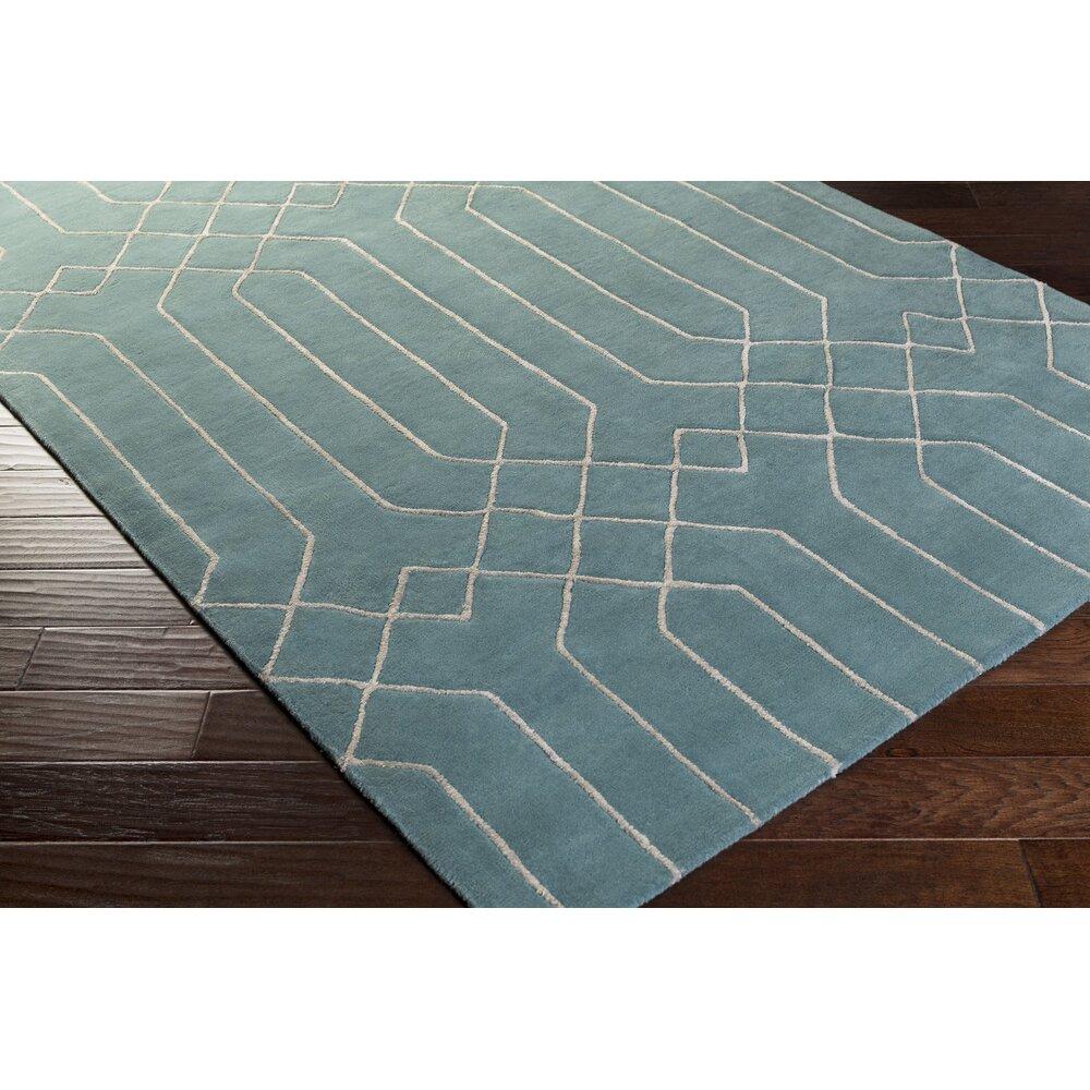 Surya Skyline Hand-Tufted Teal/Taupe Area Rug