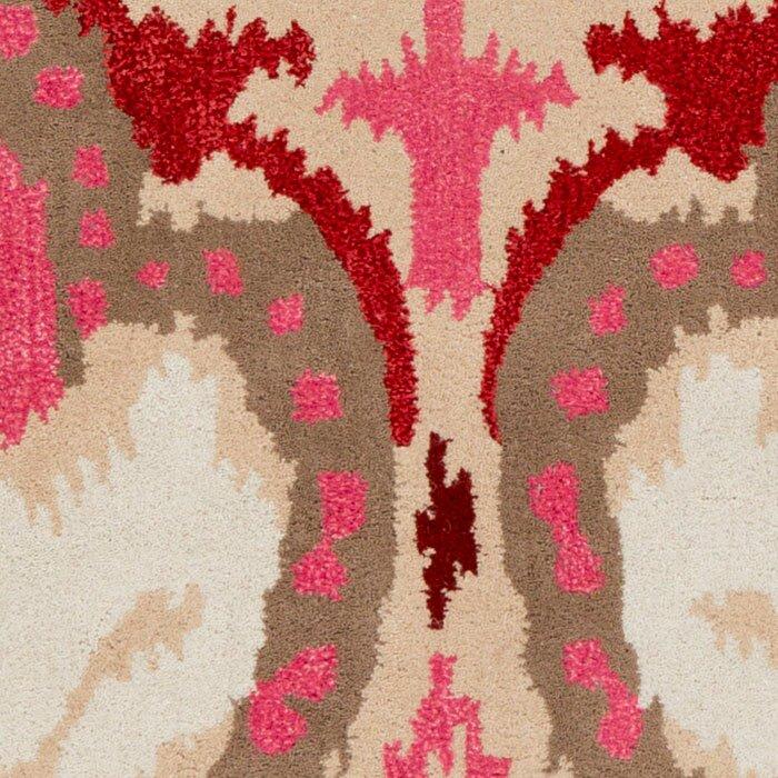 Banshee Hot Pink Ikat Area Rug
