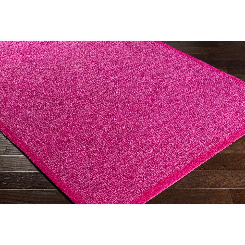 Finley Bright Pink/Dark Red Area Rug