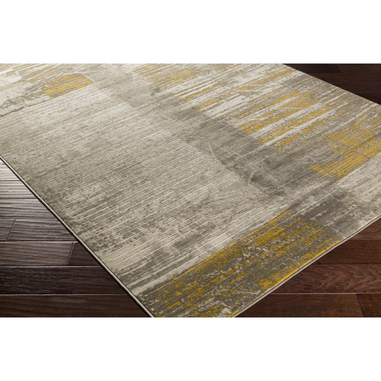 Trent Austin Design Chartwell Light Gray Gold Area Rug