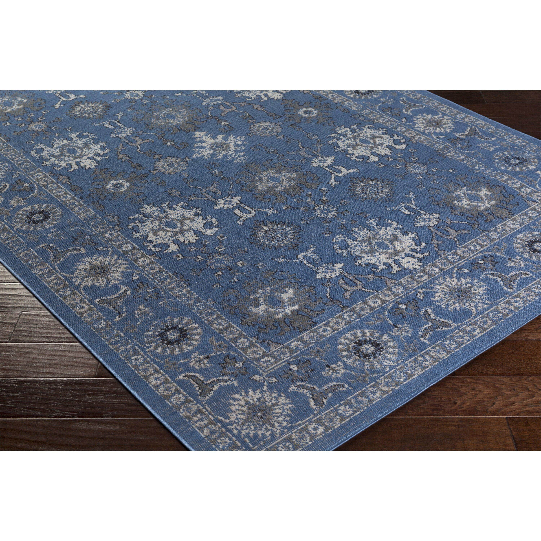bungalow rose septfontaines blue gray area rug reviews wayfair. Black Bedroom Furniture Sets. Home Design Ideas