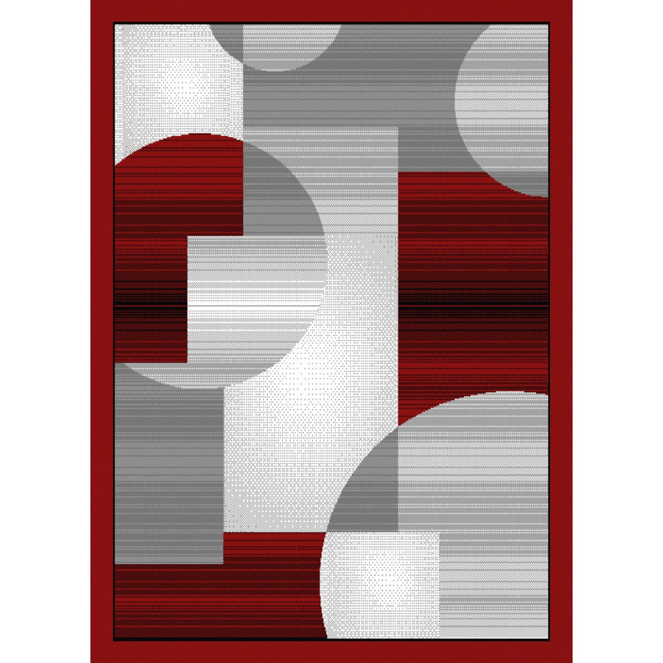 dallas zoom zoom red gray area rug wayfair. Black Bedroom Furniture Sets. Home Design Ideas