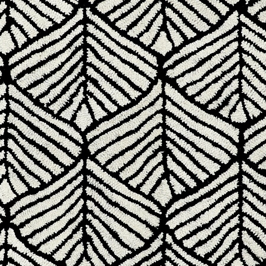 Black And White Geometric Rugs For Sale: Palace Black/White Geometric Area Rug