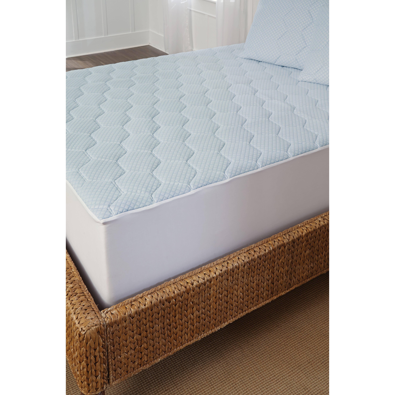 tempure rest cooling gel 240 thread count memory foam mattress pad reviews wayfair. Black Bedroom Furniture Sets. Home Design Ideas