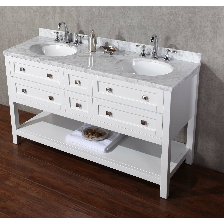 60 Double Sink Bathroom Vanity Set With Mirror Wayfair