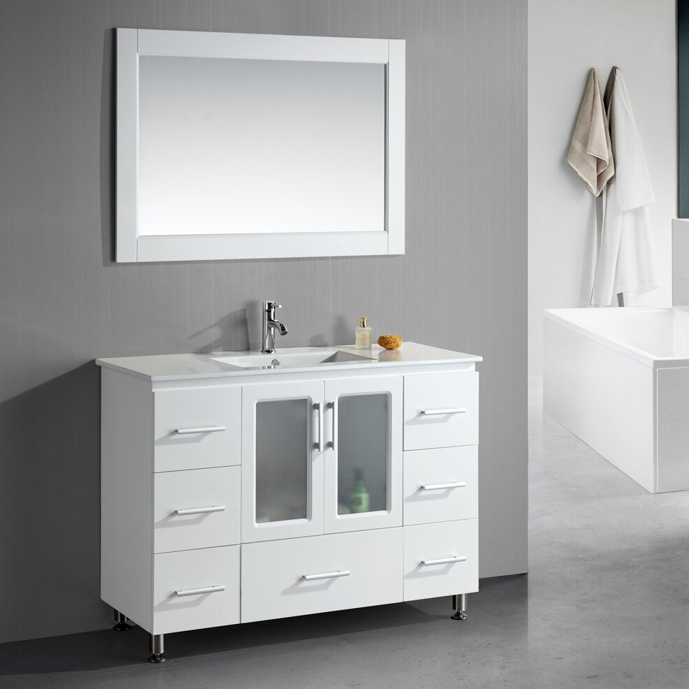 Dcor Design 48 Single Modern Bathroom Vanity Set With