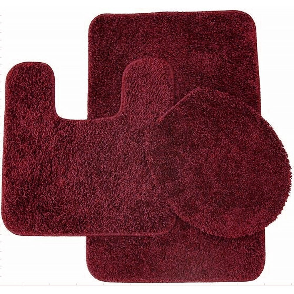 Piece Shag Bathroom Rug Set By Sweet Home Collection