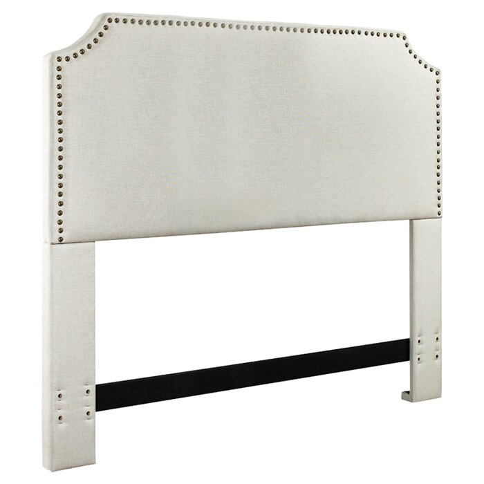 Mercury Row Luna Nail Trim Upholstered Headboard & Reviews