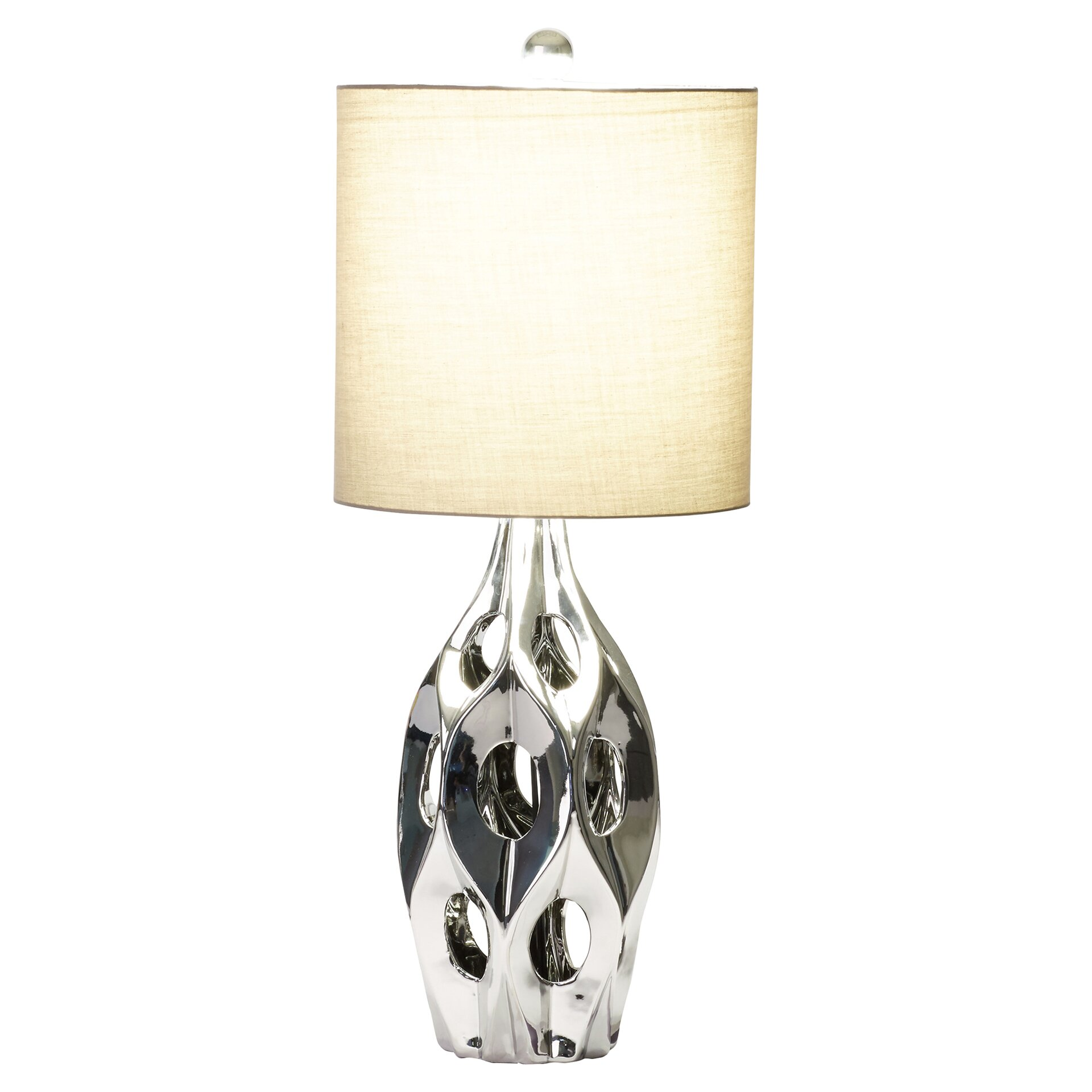 lighting lamps pewter silver table lamps mercury row sku mcrr1549. Black Bedroom Furniture Sets. Home Design Ideas
