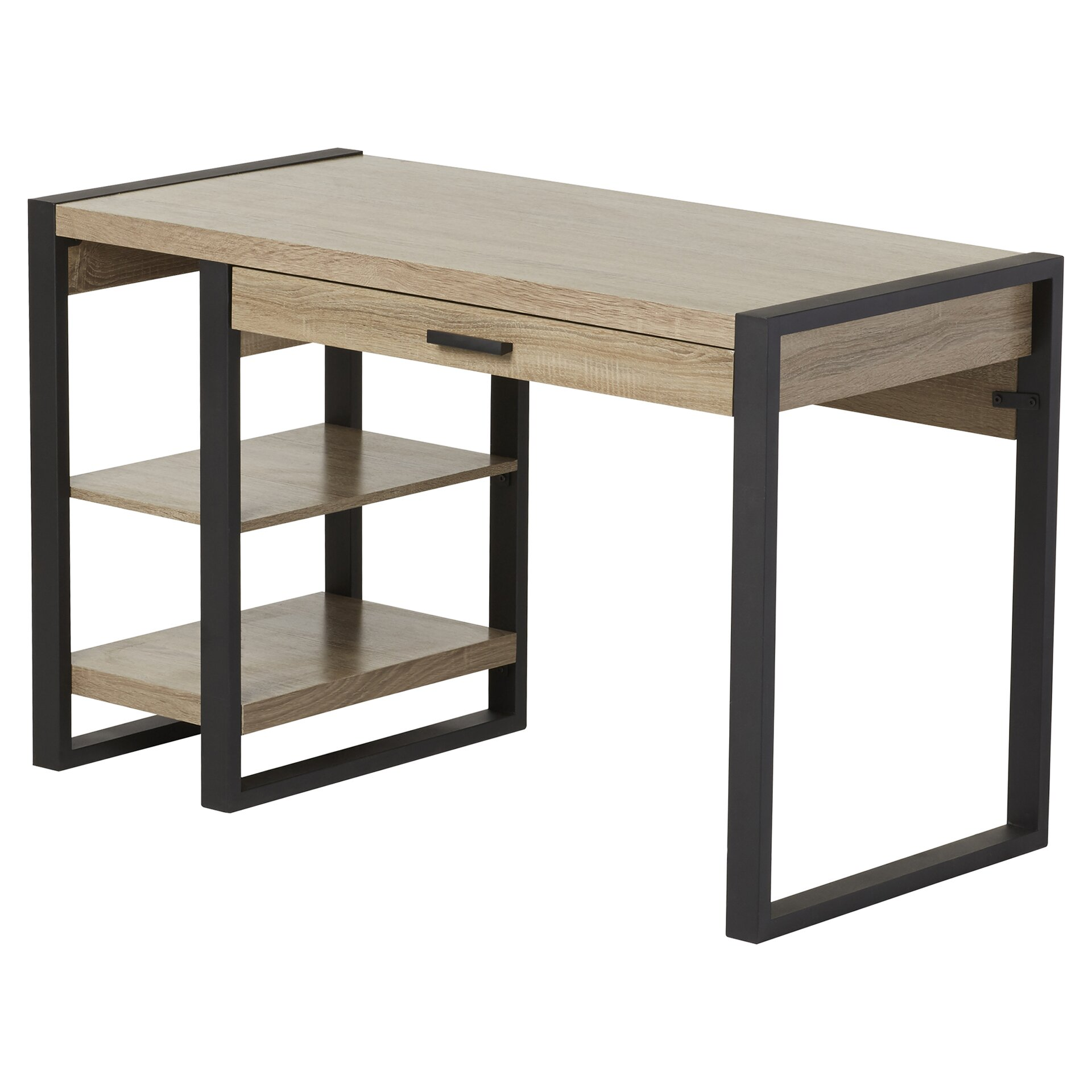 mercury row taurus 1 drawer computer desk reviews wayfair. Black Bedroom Furniture Sets. Home Design Ideas