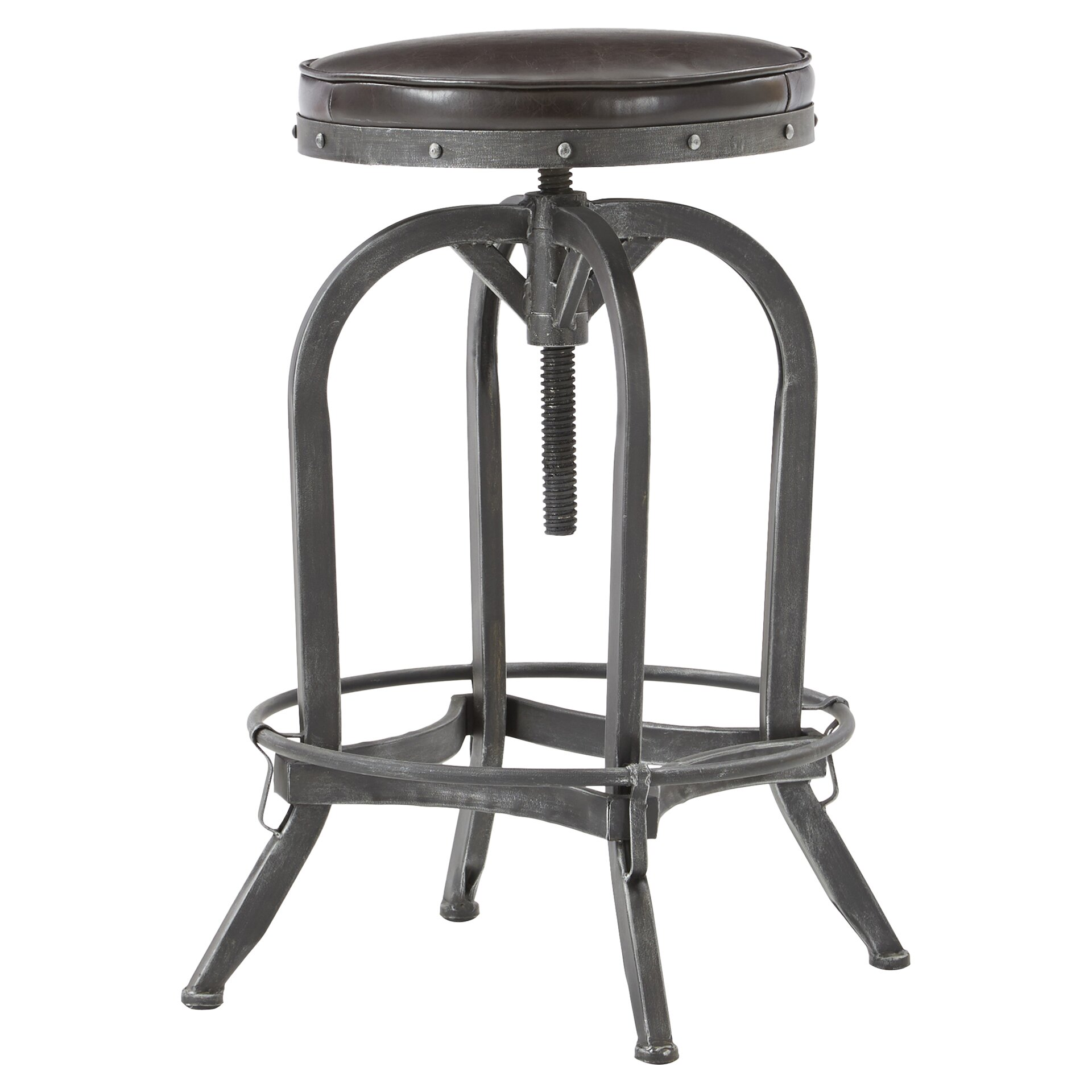 Mercury Row Adjustable Height Swivel Bar Stool amp Reviews  : Adjustable Height Bar Stool MCRR1563 from www.wayfair.com size 1920 x 1920 jpeg 285kB