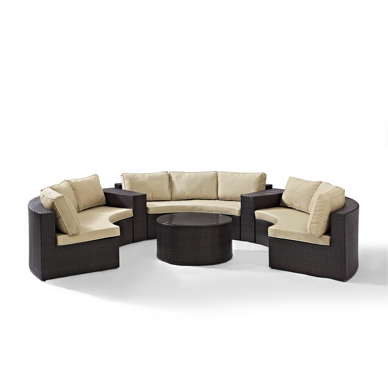 Mercury Row 6 Piece Deep Seating Group With Cushion