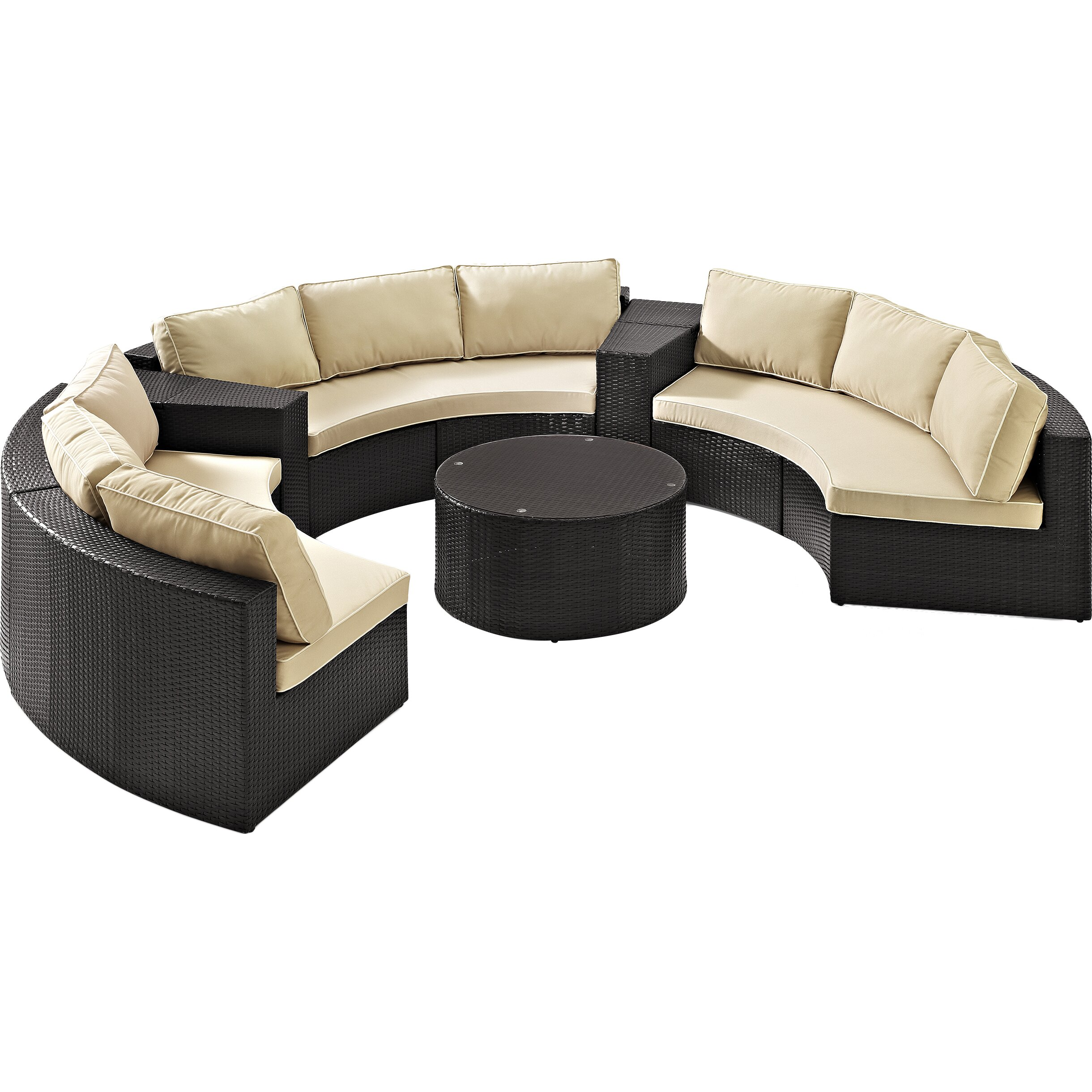 Mercury Row 6 Piece Deep Seating Group With Cushion