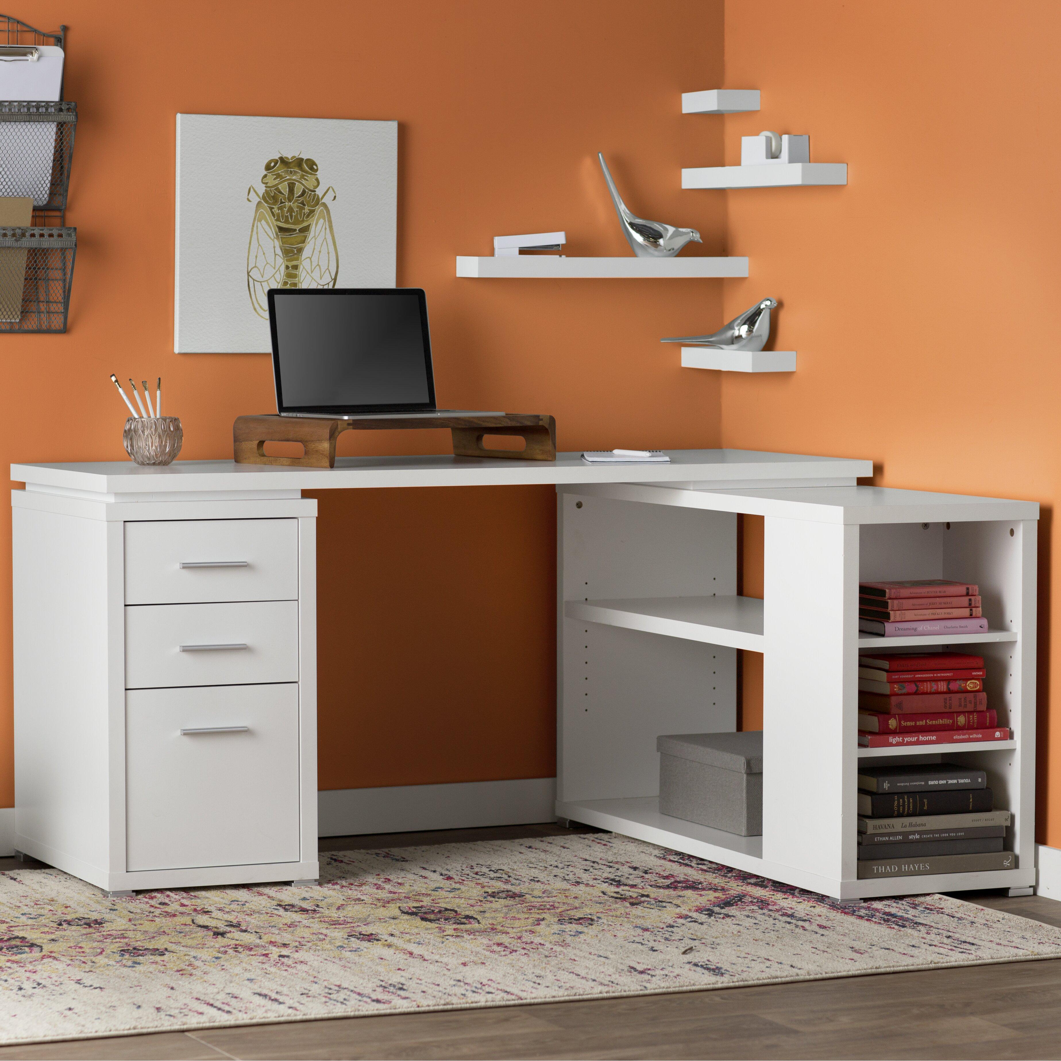 Mercury Row Senga Down 3 Drawer Computer Desk Amp Reviews