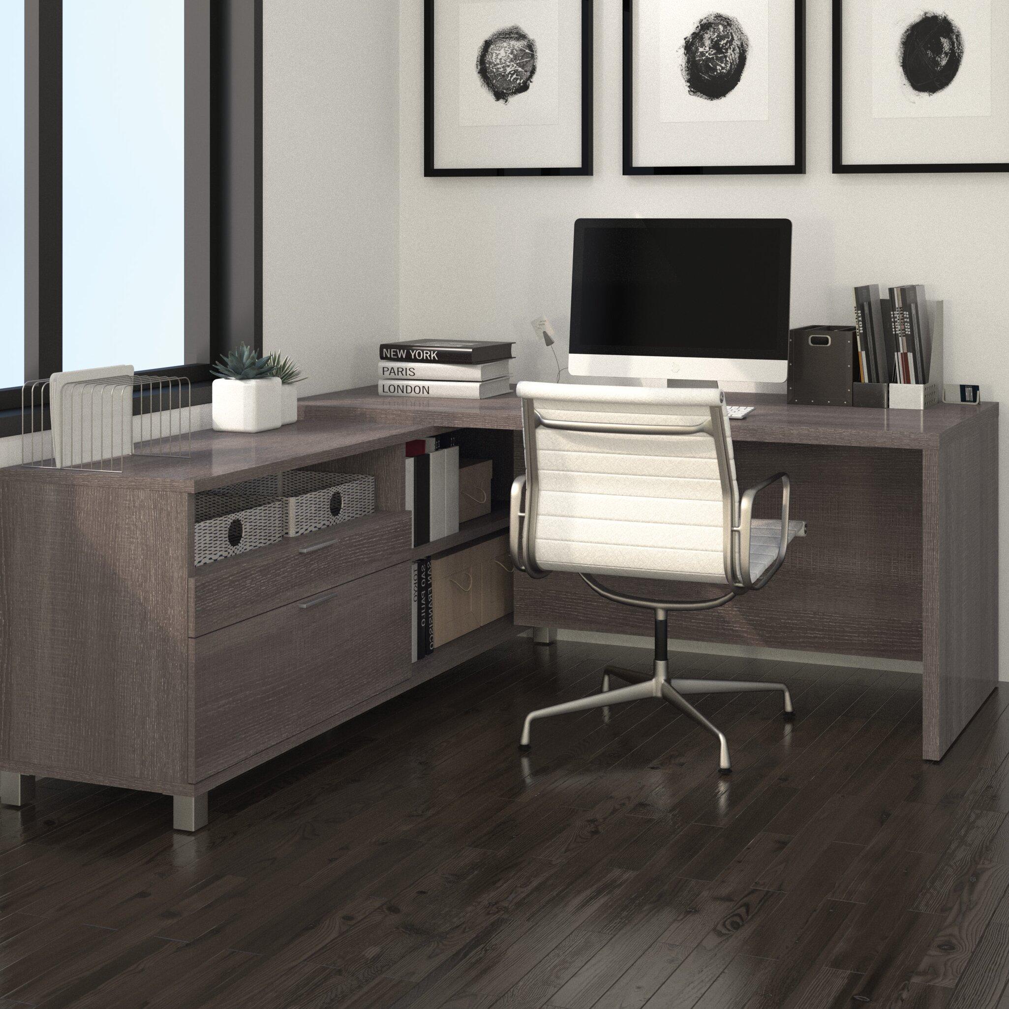 Ariana 2-Piece L-Shape Desk Office Suite
