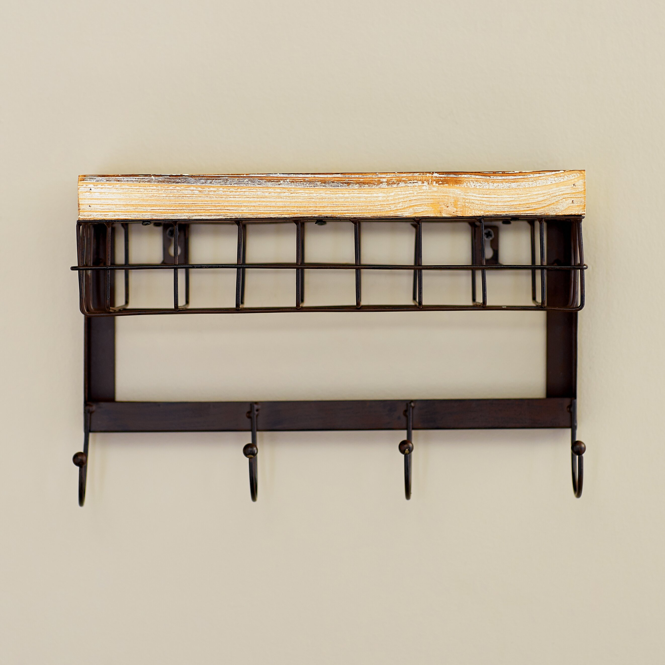 Very Impressive portraiture of Wall Mounted Coat Rack Plan Design Ideas  With Stylish Cubic Brown Wood