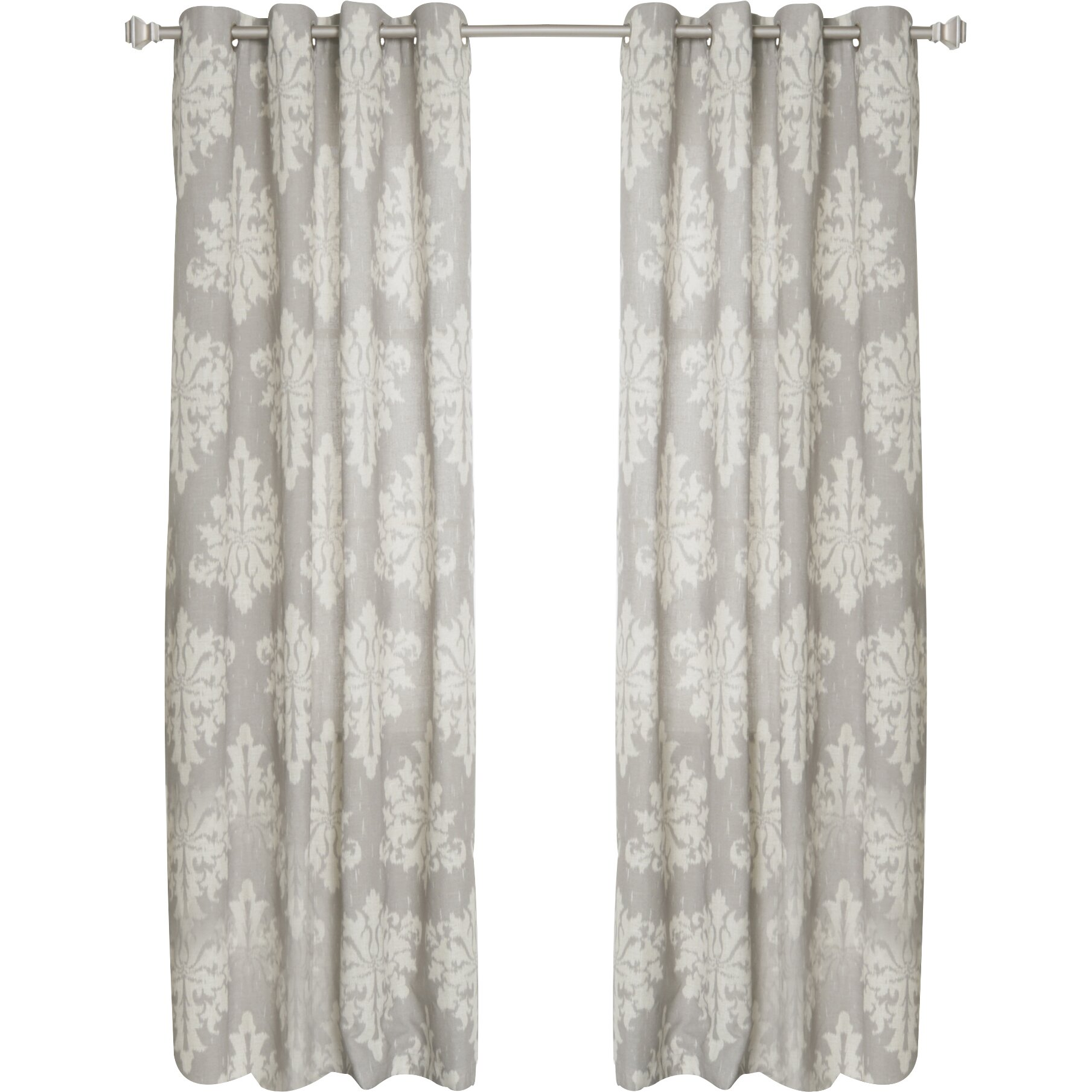 Best Home Fashion, Inc. Linen Blend Grommet Top Curtain Panel ...