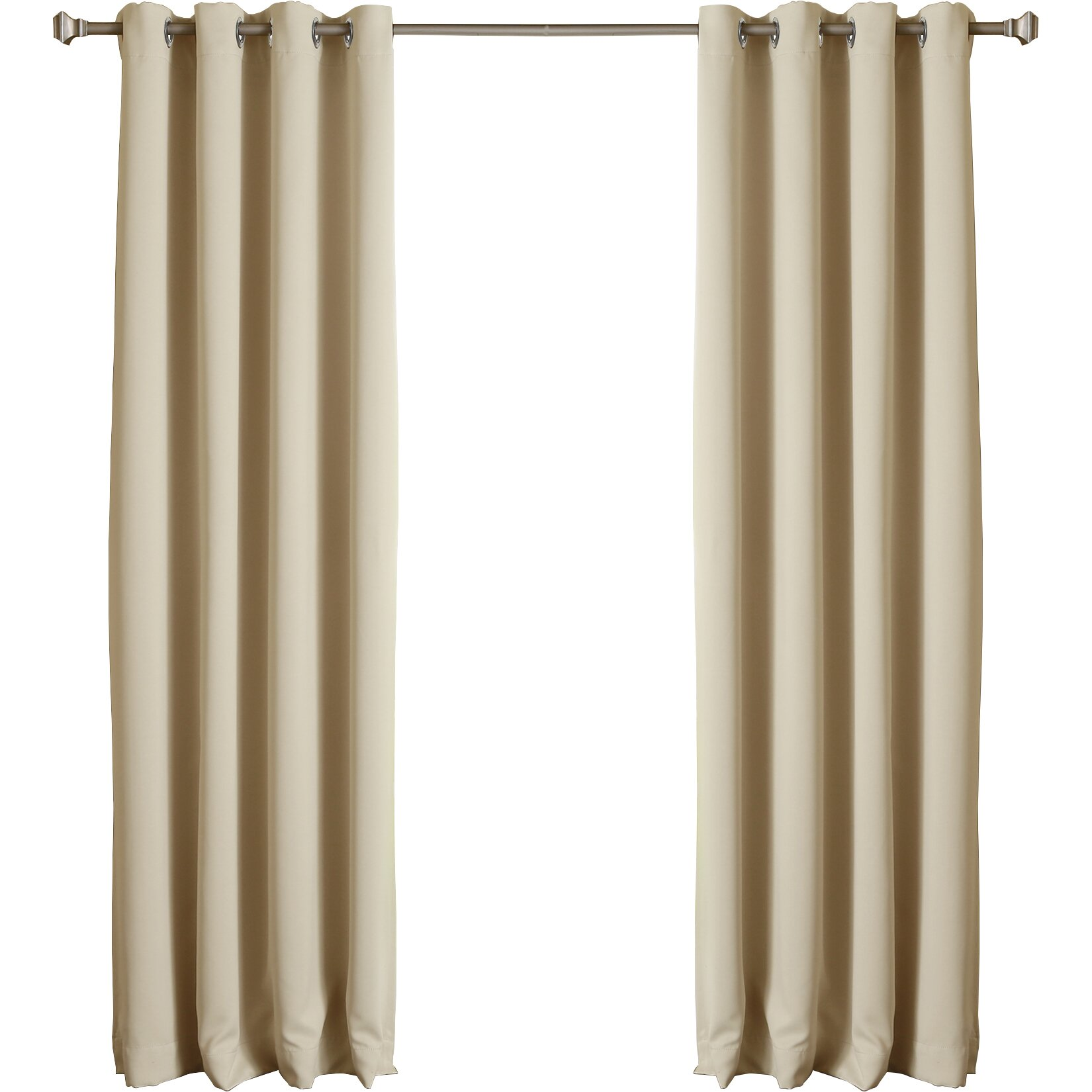 Silver Grommet Top Thermal Insulated Blackout Curtain Panel Wayfair