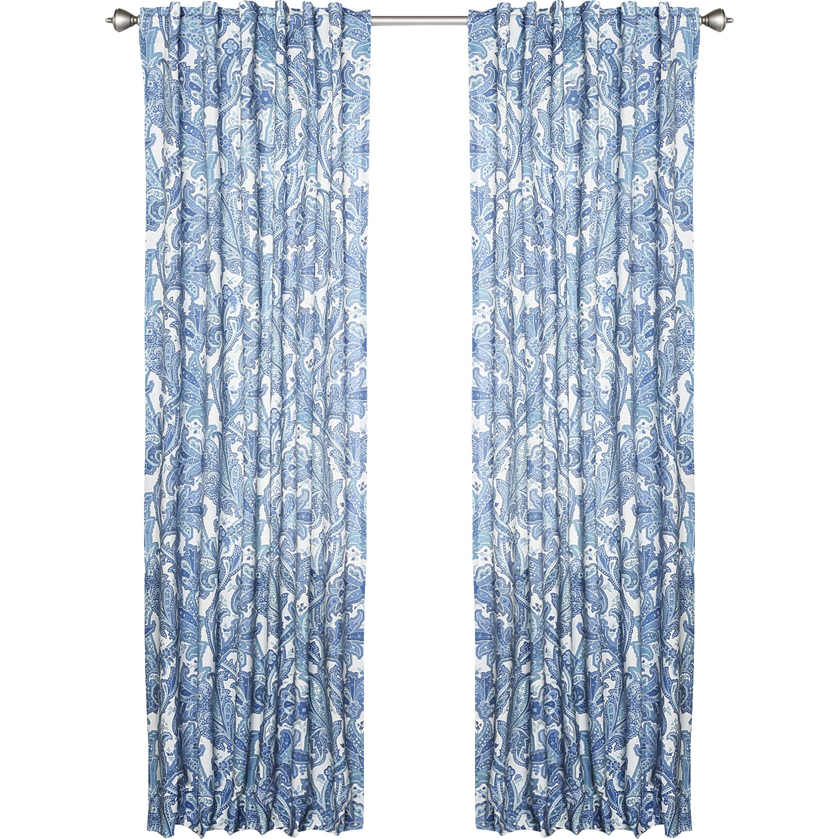 Blue paisley rod pocket curtain panels joss amp main