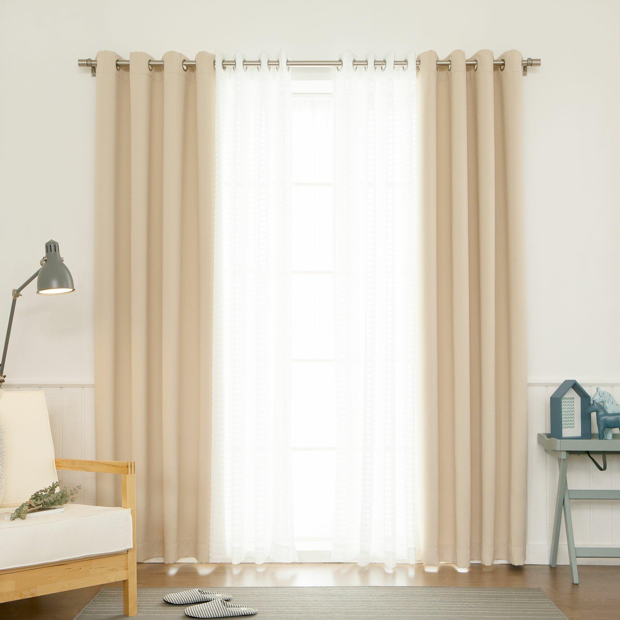 Mix match curtain set wayfair for Mix and match curtains colors