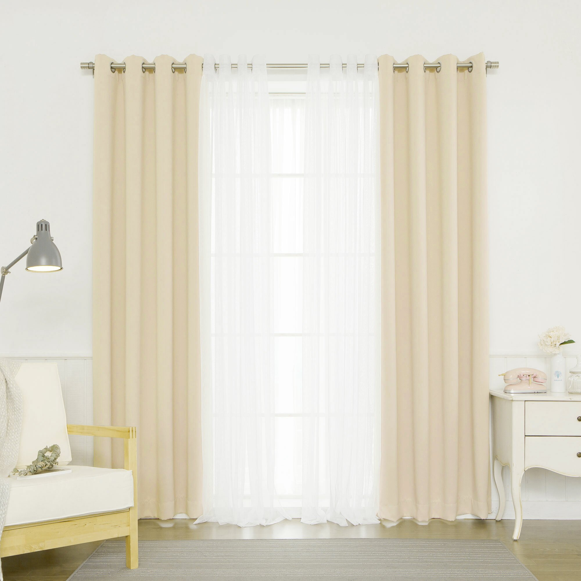 Mix match curtain panel wayfair for Mix and match curtains colors