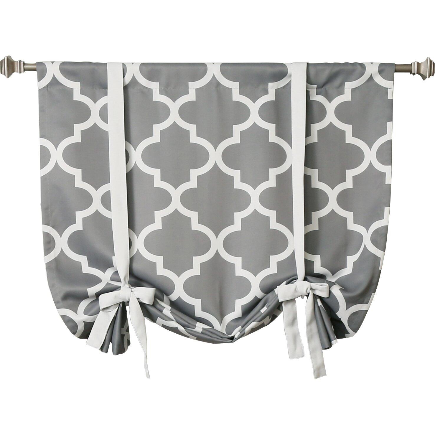 best home fashion inc moroccan print room darkening tie up shade
