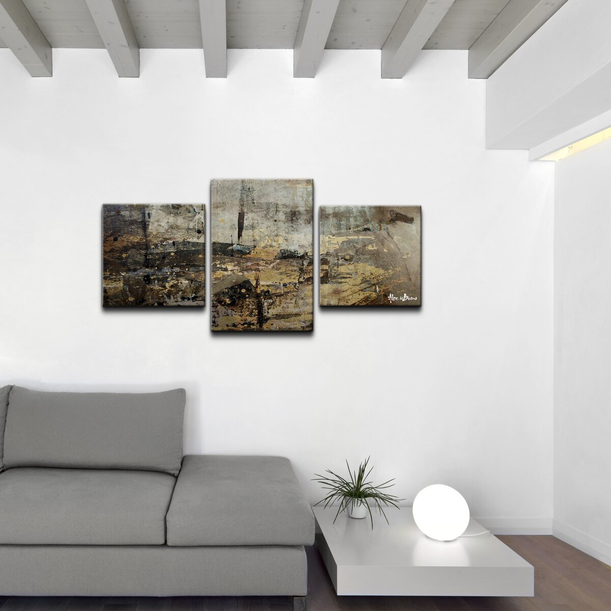 ready2hangart abstract 3 piece canvas wall art allmodern. Black Bedroom Furniture Sets. Home Design Ideas