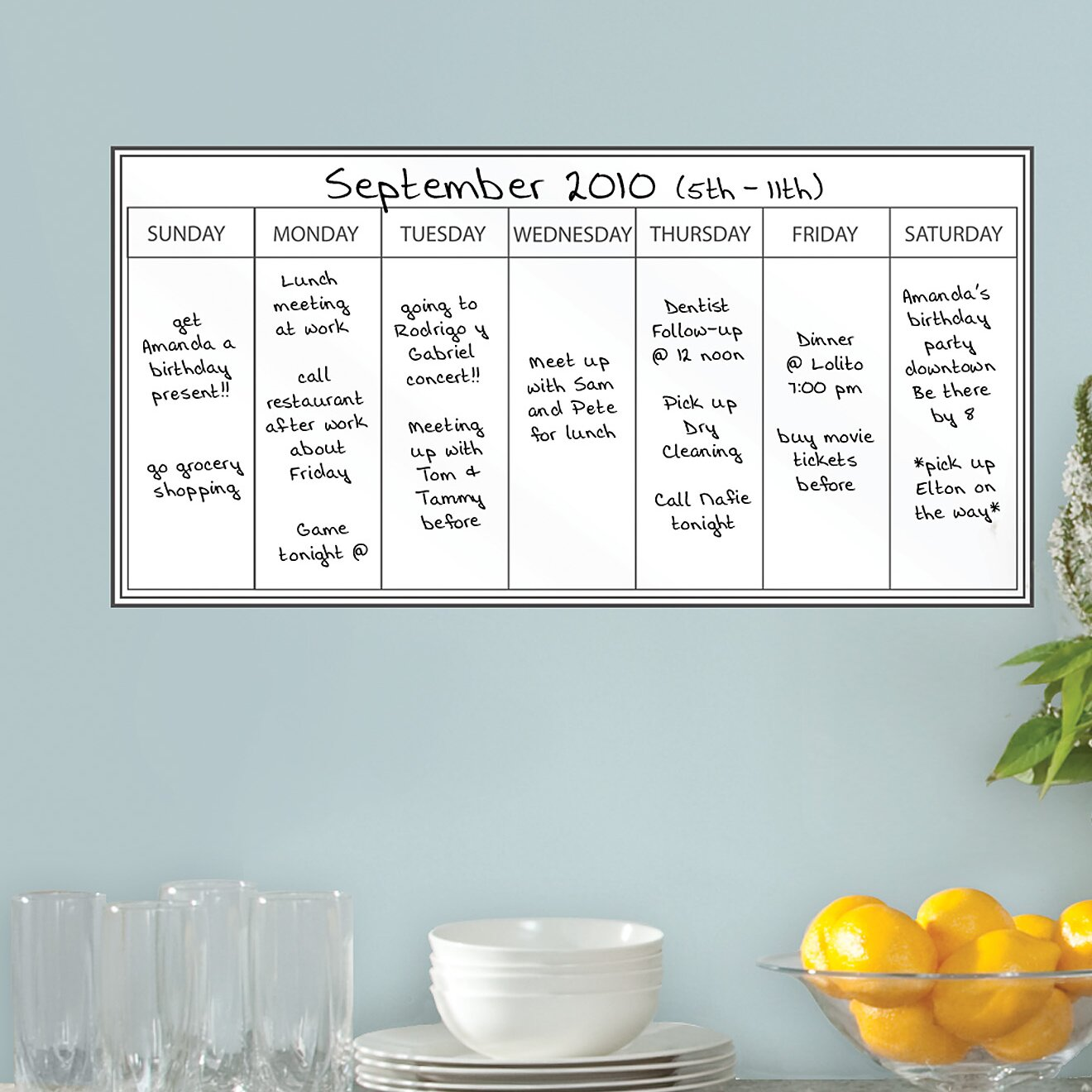dry erase weekly planner wall stickers wayfair uk