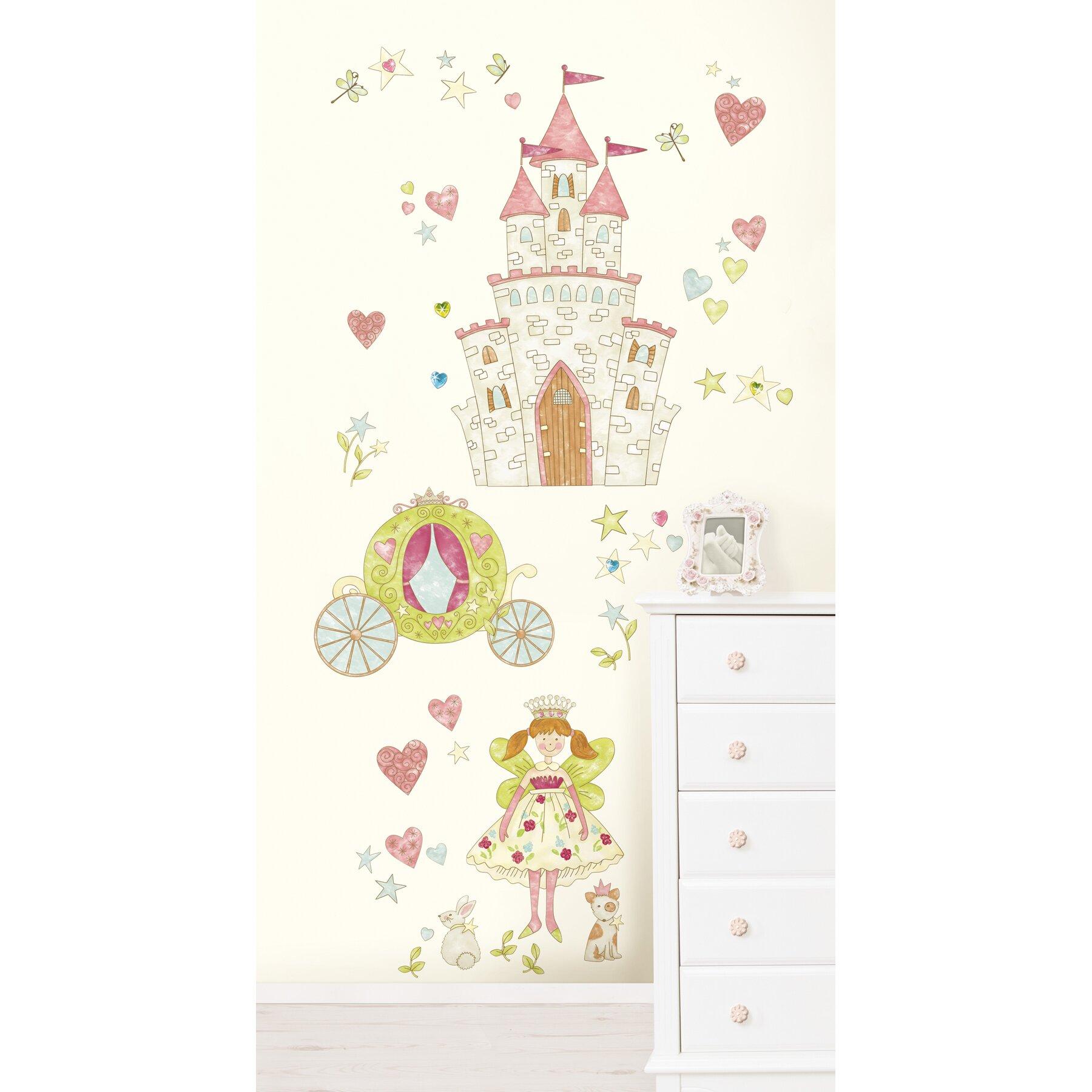 wallpops kids princess fairyland kids wall sticker kit disney princess wall sticker wayfair co uk