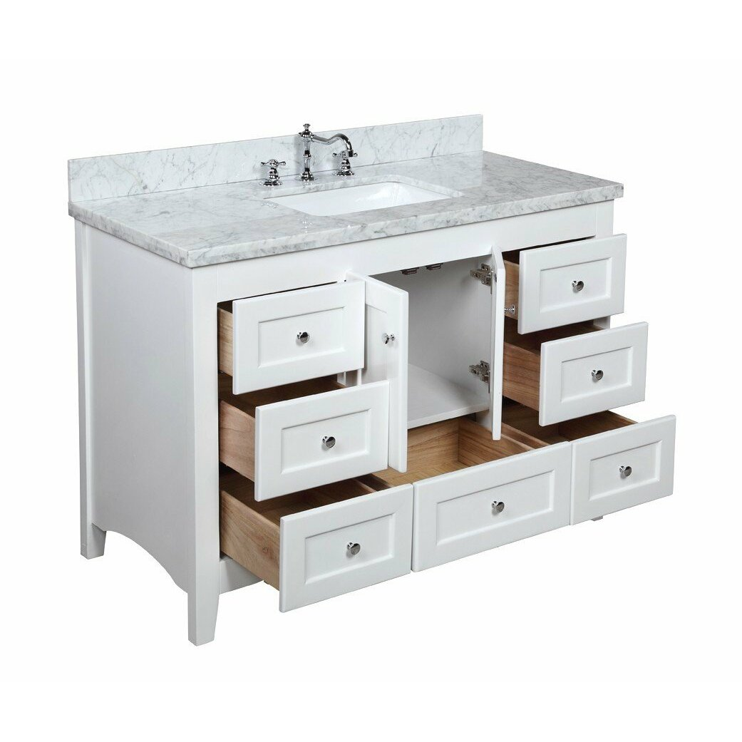 kbc abbey 48 quot single bathroom vanity set amp reviews wayfair