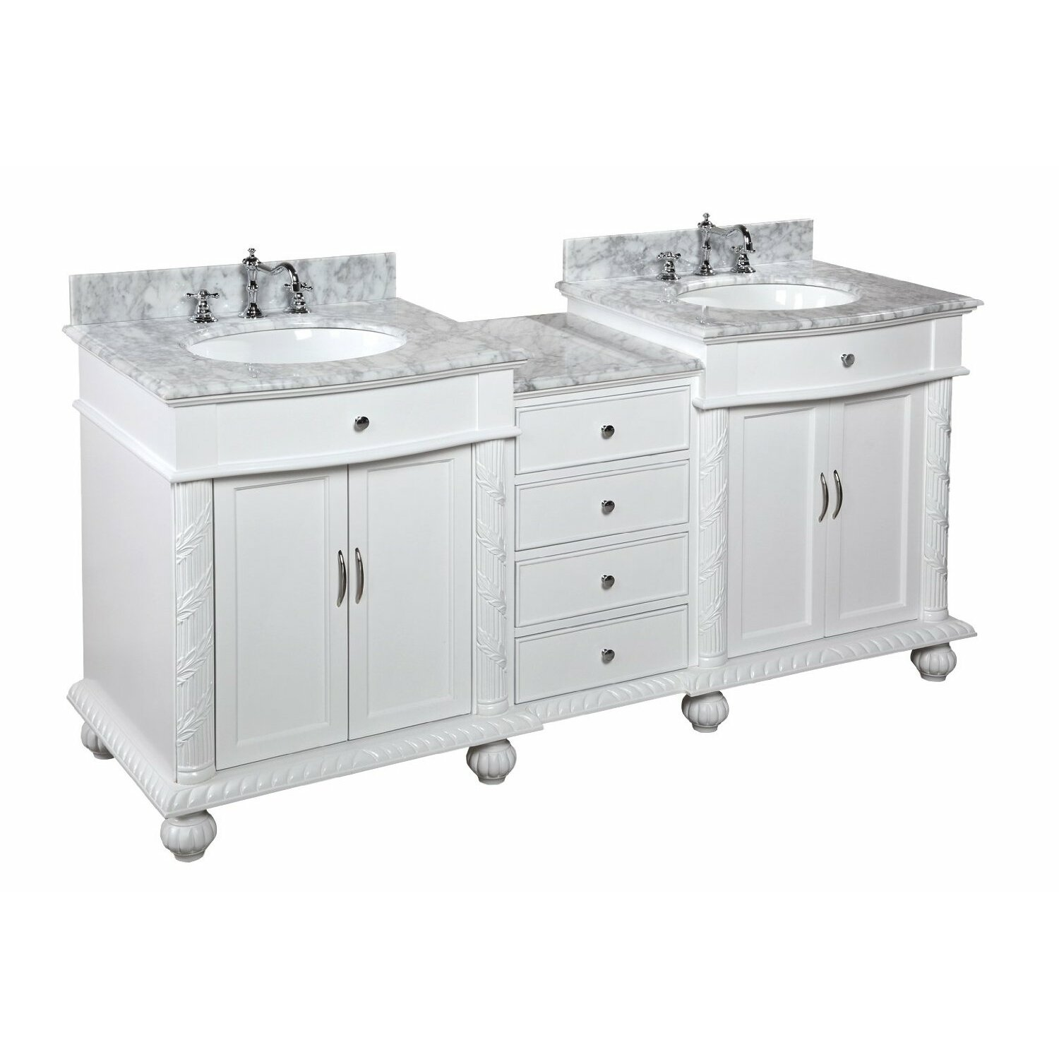 Kbc Buckingham 72 Double Bathroom Vanity Set Reviews Wayfair