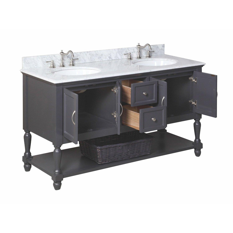 "Beverly 60"" Double Bathroom Vanity Set"