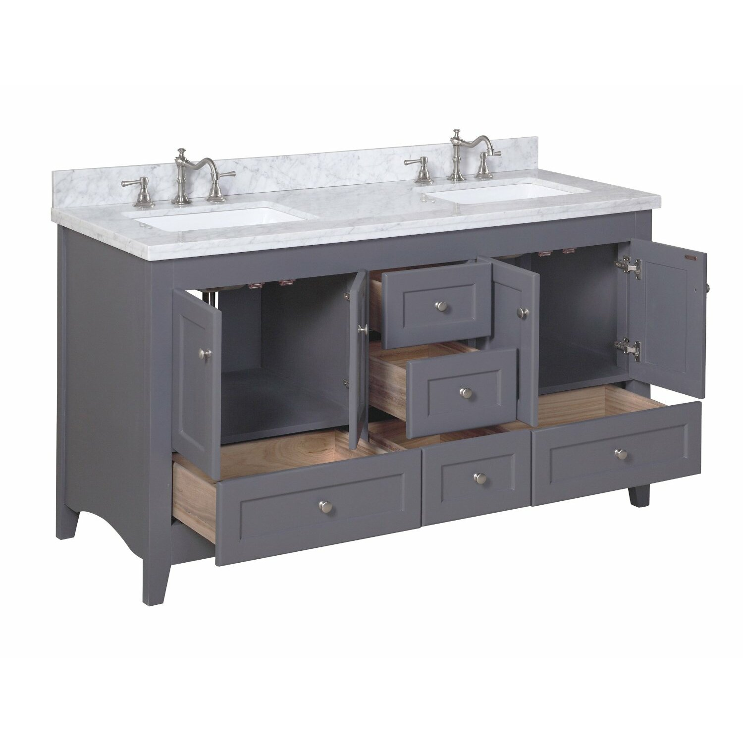 kitchen bath collection abbey 60 double bathroom vanity set