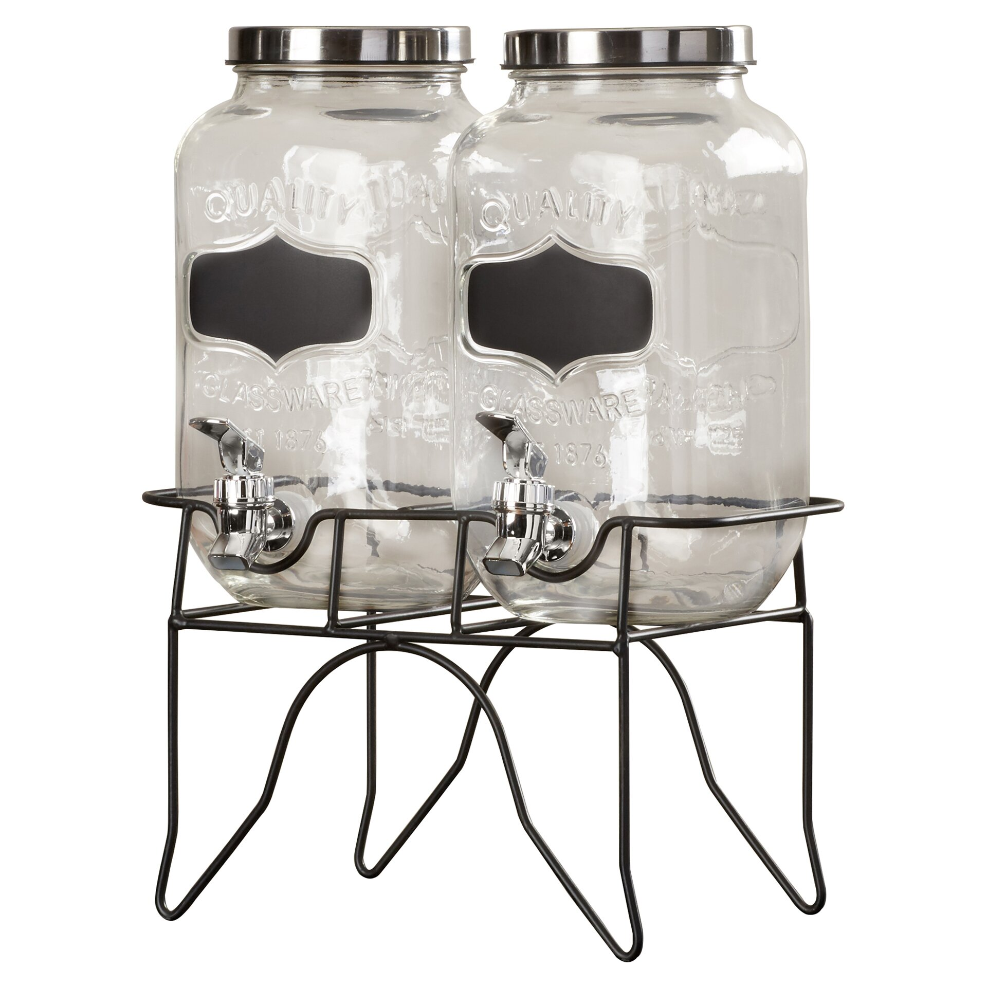 Red Barrel Studio Hargrove 3 Piece Dual Beverage Dispenser