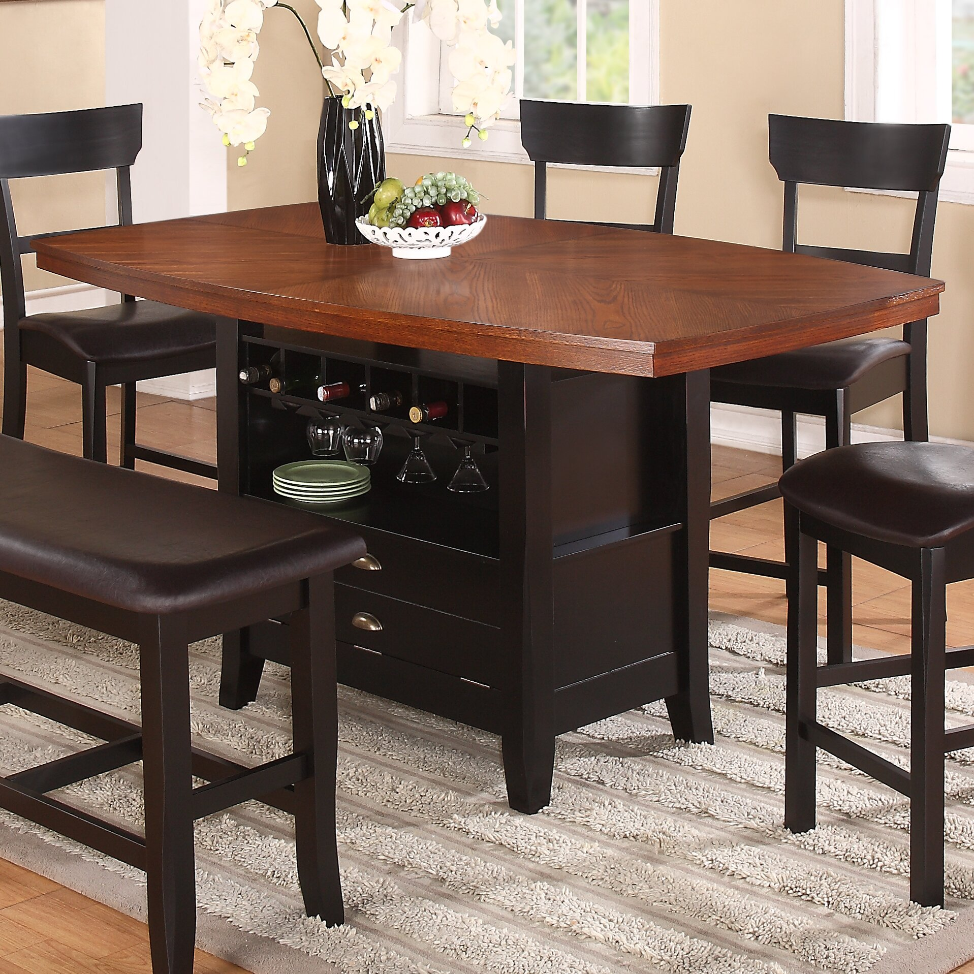 Tall Dining Table: Red Barrel Studio Wachusett Counter Height Dining Table