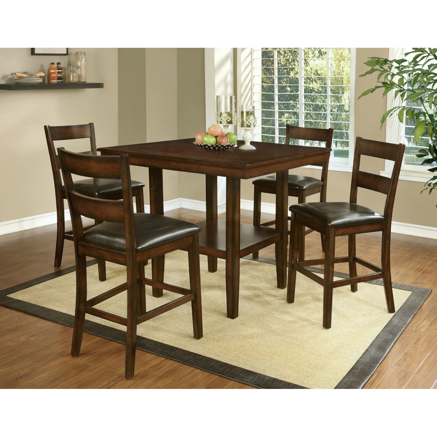 Counter Height Dining Sets 5 Piece : Shorebilly 5 Piece Counter Height Dining Set by Red Barrel Studio