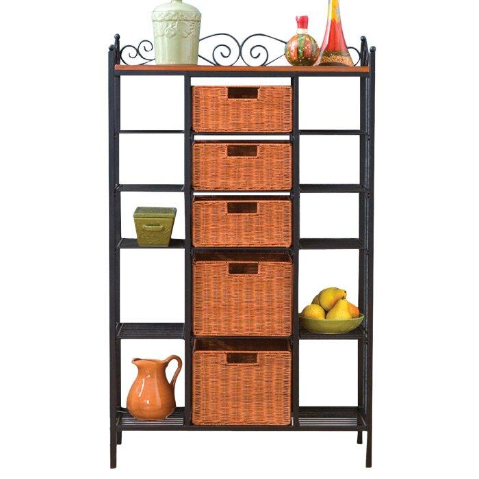 silverado storage 5 drawer baker 39 s rack wayfair. Black Bedroom Furniture Sets. Home Design Ideas