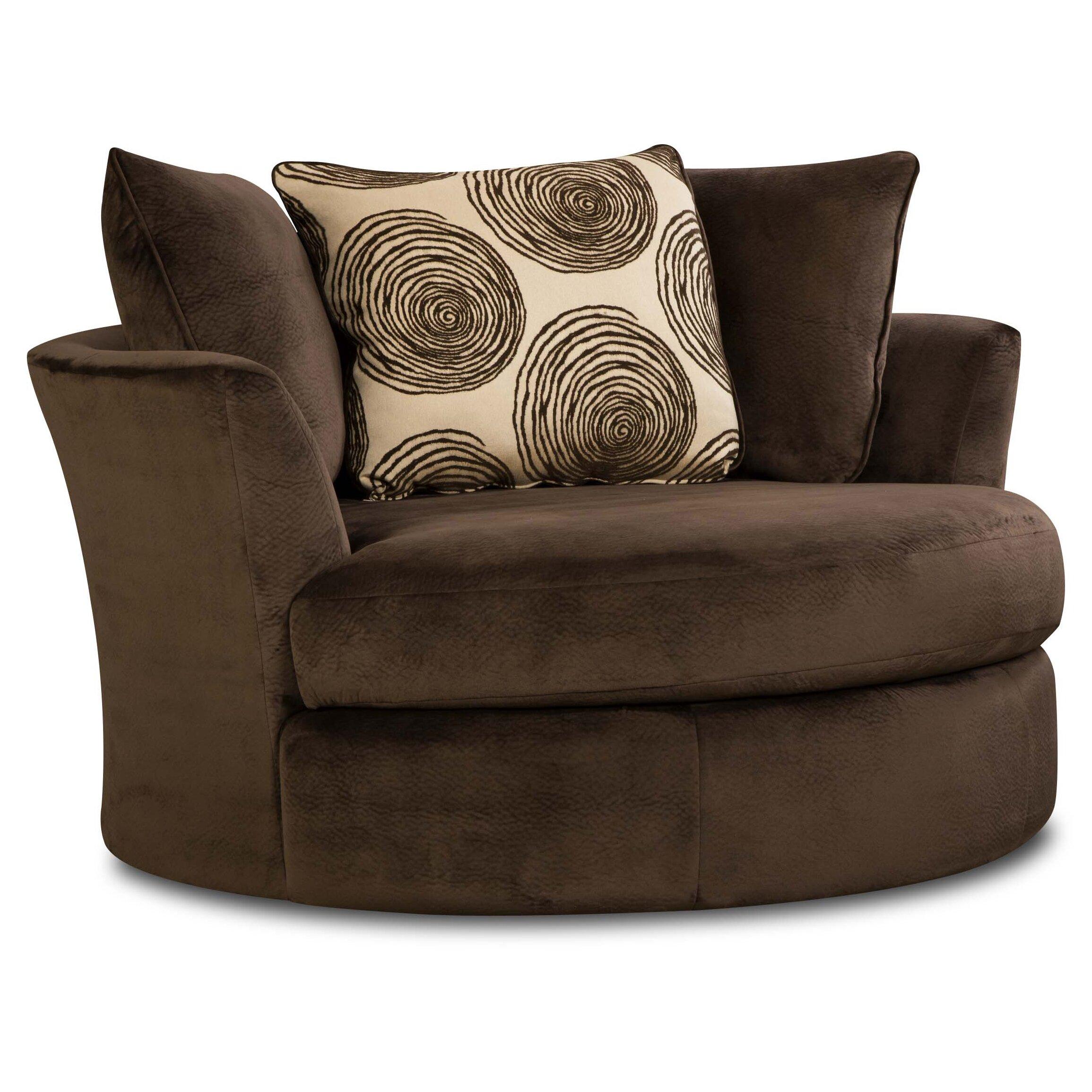 Red Barrel Studio Transient Swivel Barrel Chair & Reviews ...