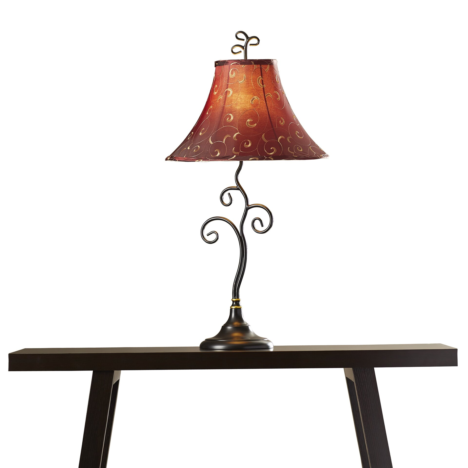 """Red Barrel Studio Santa Fe 30"""" Table Lamp With Bell Shade"""