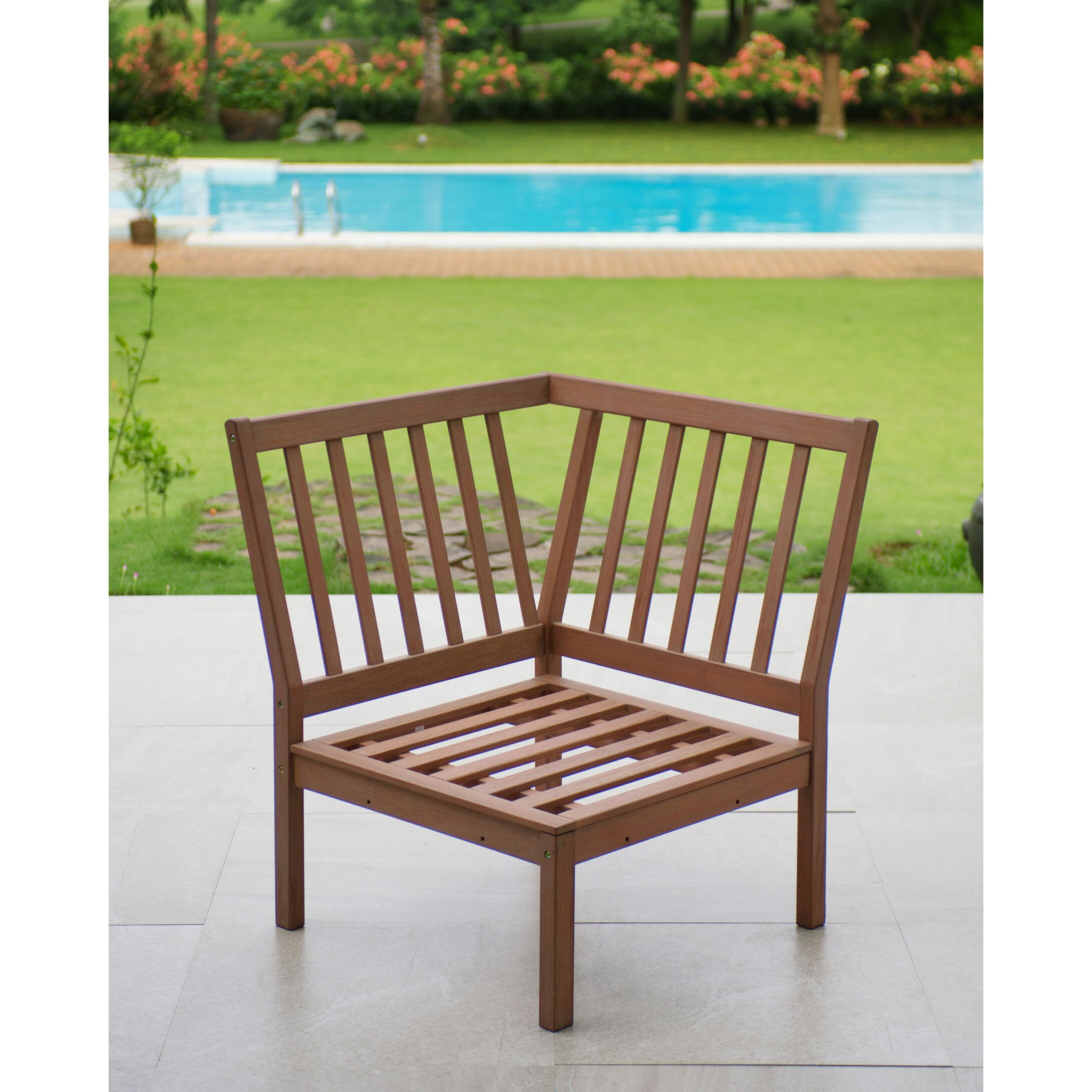 Willow Corner Lounge Chair with Cushion