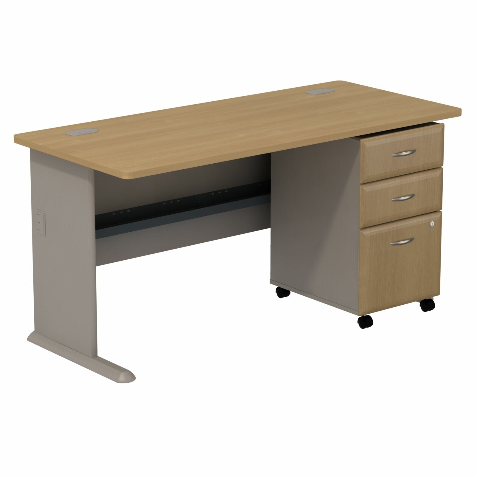 Bush Business Furniture Series A Computer Desk With 3