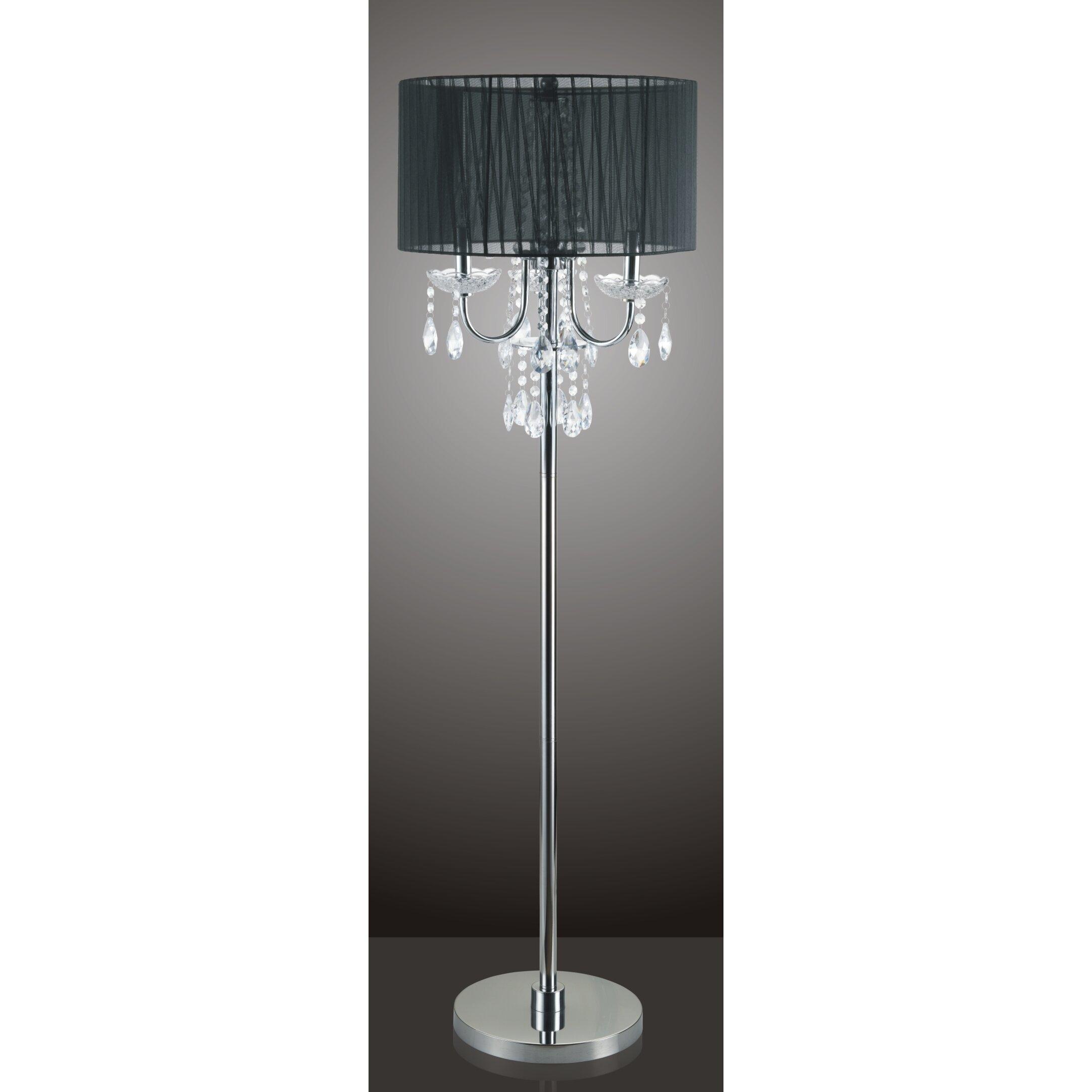 Sintechno Inc Crystal 62 5 Quot Floor Lamp Amp Reviews Wayfair