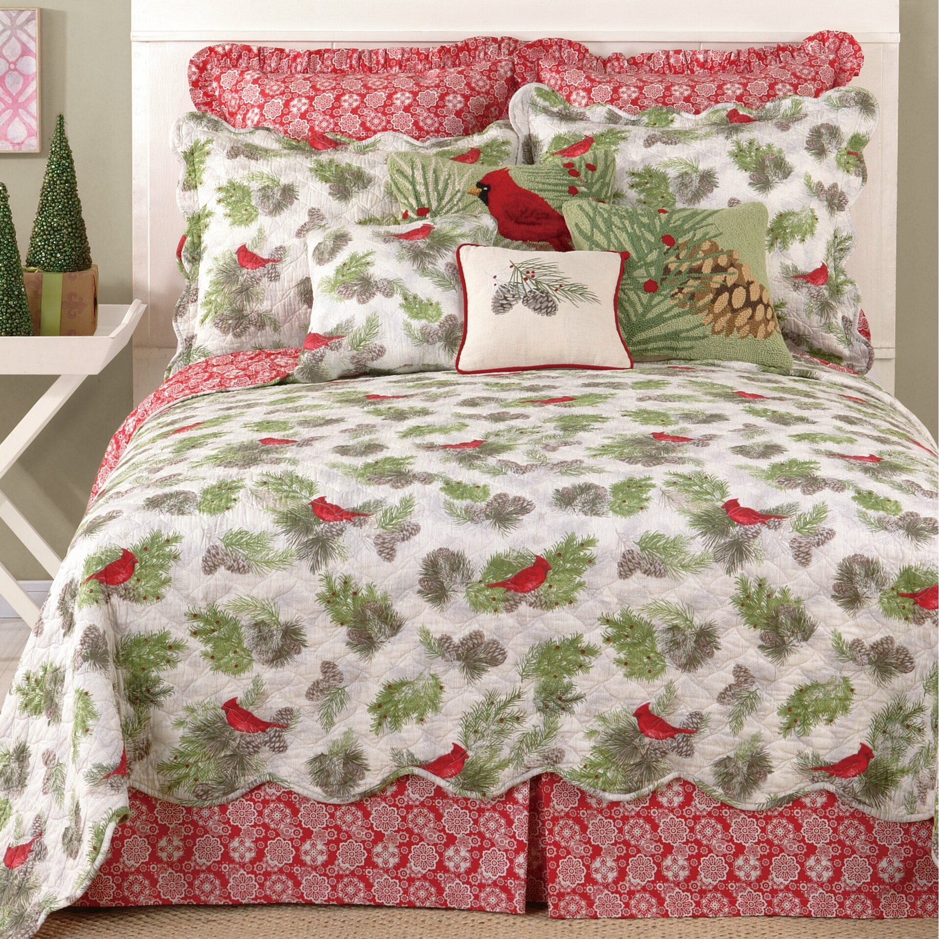 Laurel And Mayfair Winter Bird Reversible Quilt Amp Reviews